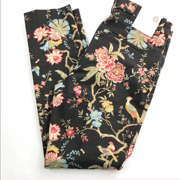New With Tags GP /& J Baker X H/&M Black Floral Bird /& Pattered Weave Brand Scarf